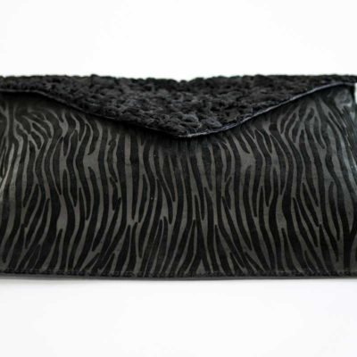 Upcycling Deluxe Akten Clutch
