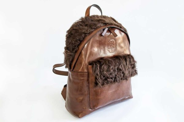 Upcycling Deluxe Unisex Rucksack Braun