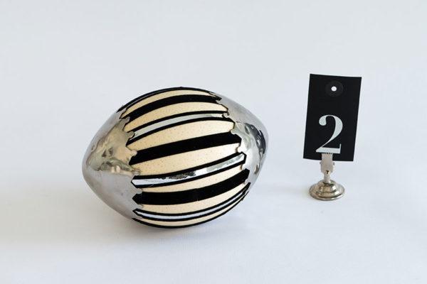 Art Deco Ei No.2 mit Silberkrönchen