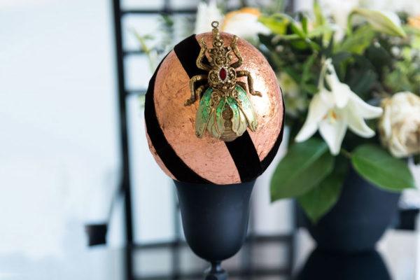 Straußenei á la Fabergé Roségold